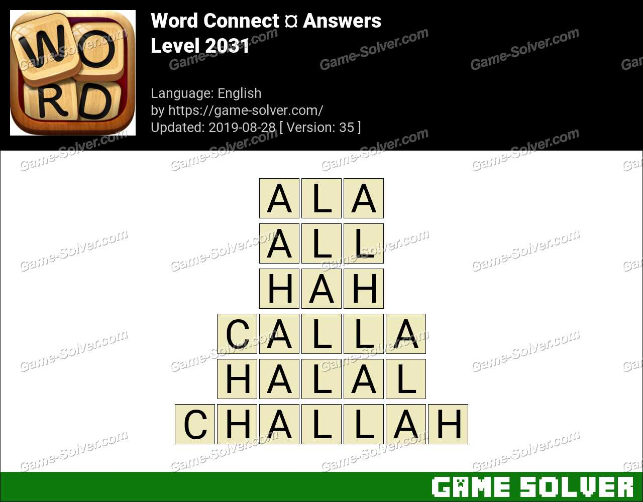 Word Connect Level 2031 Answers