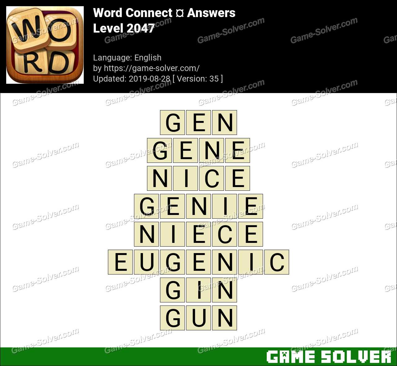 Word Connect Level 2047 Answers