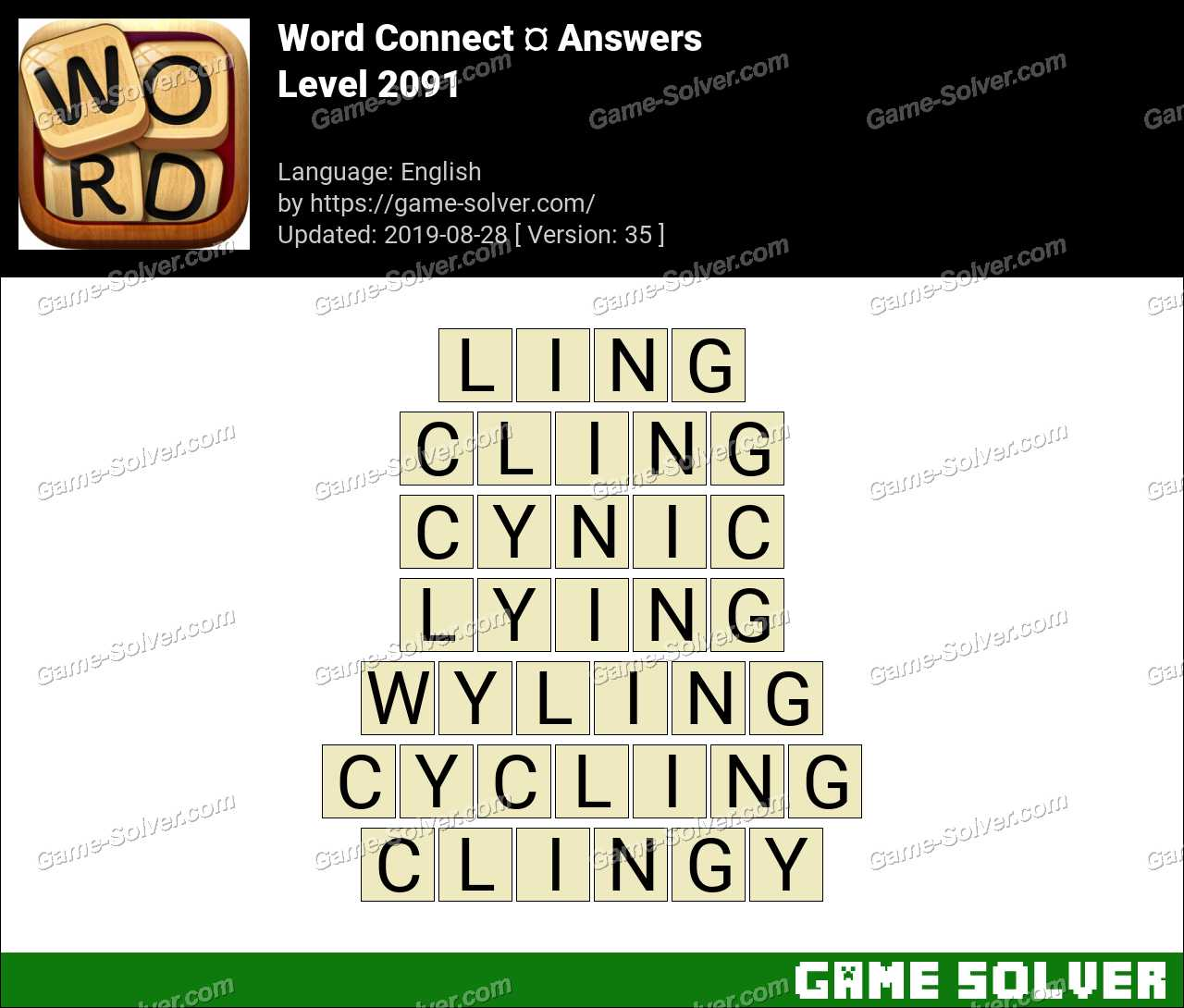 Word Connect Level 2091 Answers