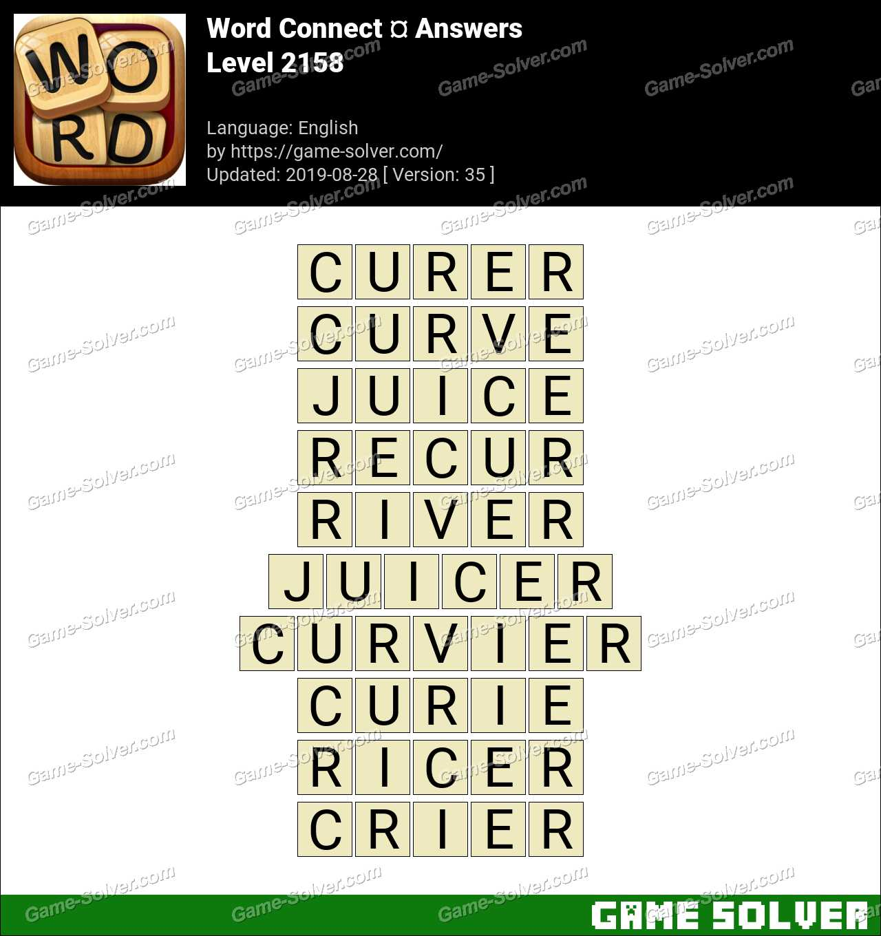 Word Connect Level 2158 Answers