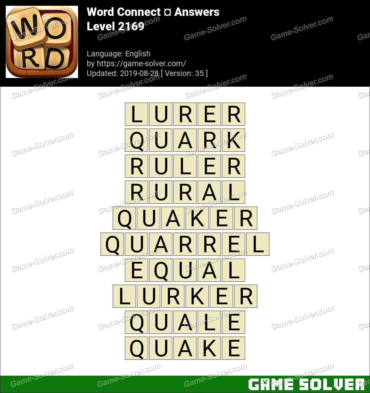Word Connect Level 2169 Answers