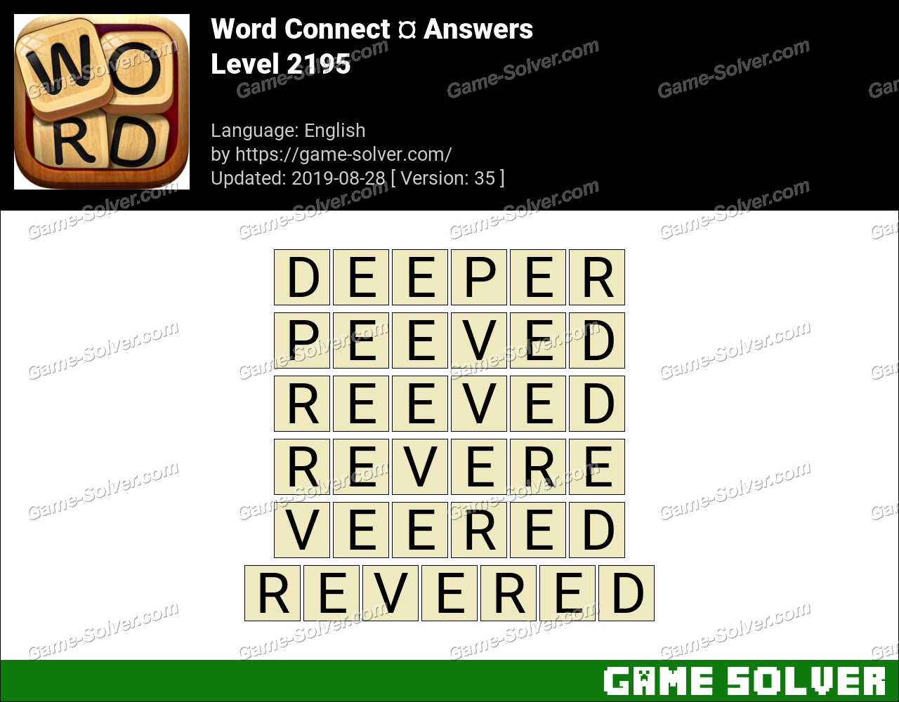 Word Connect Level 2195 Answers