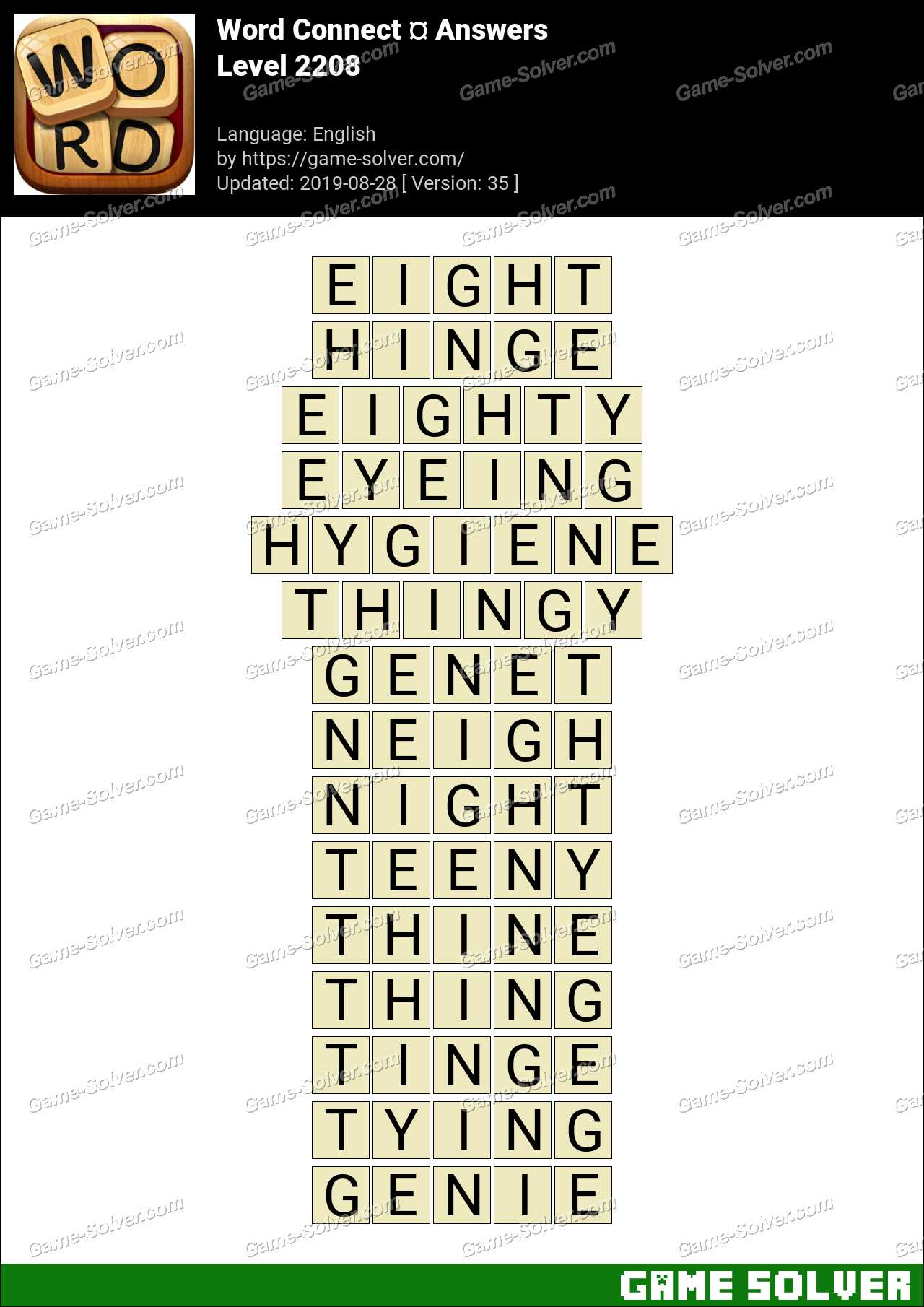 Word Connect Level 2208 Answers