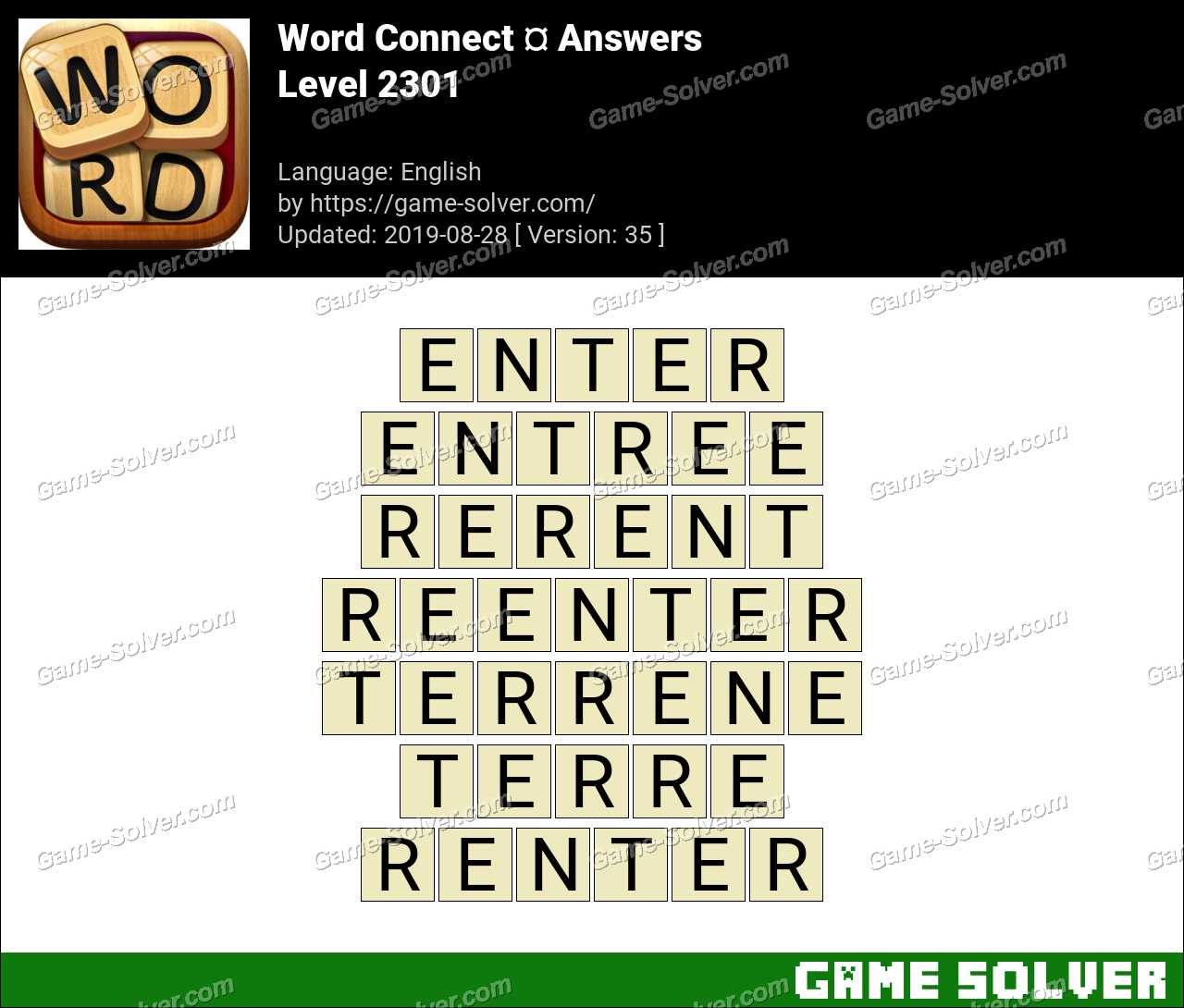 Word Connect Level 2301 Answers