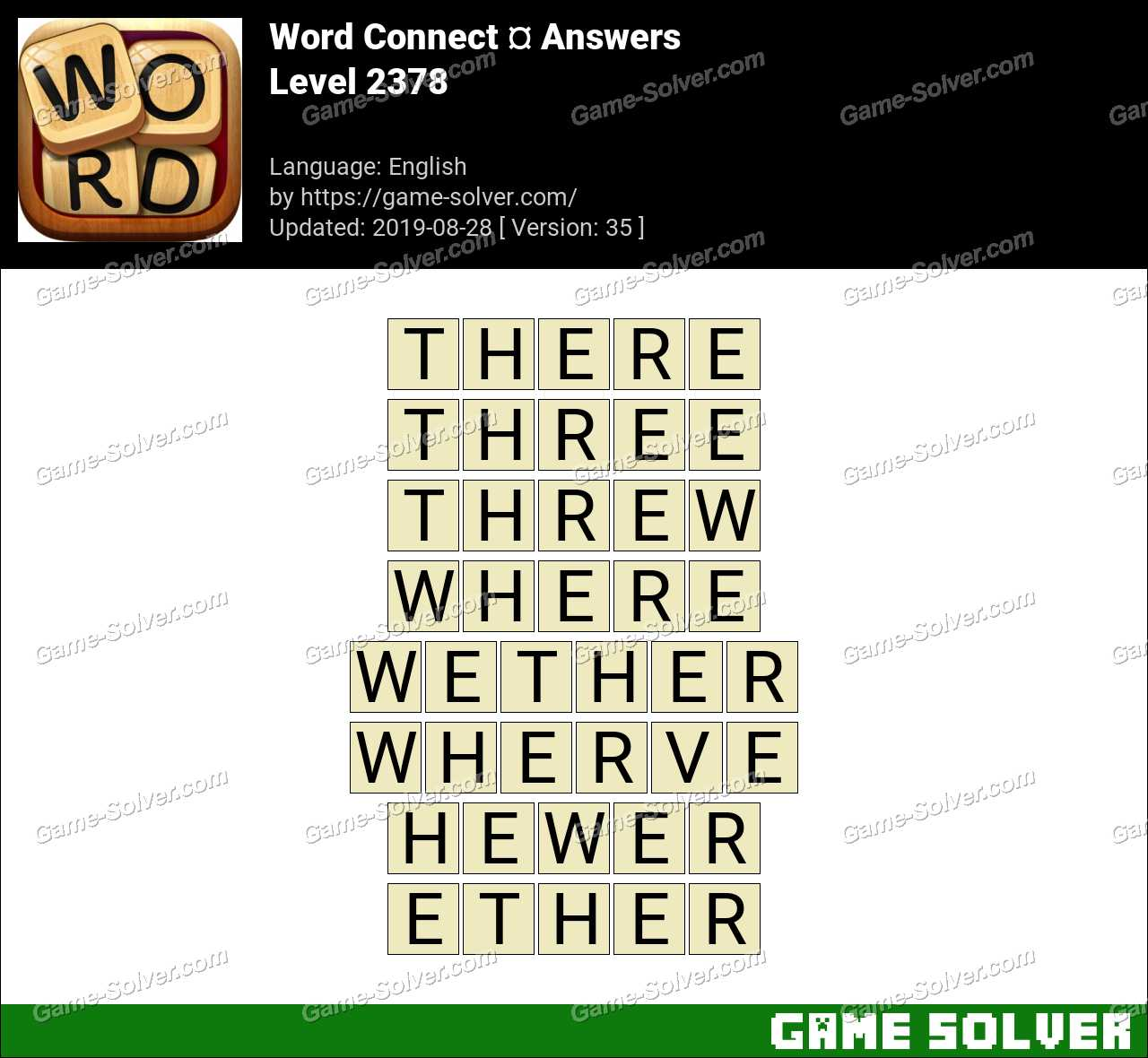Word Connect Level 2378 Answers