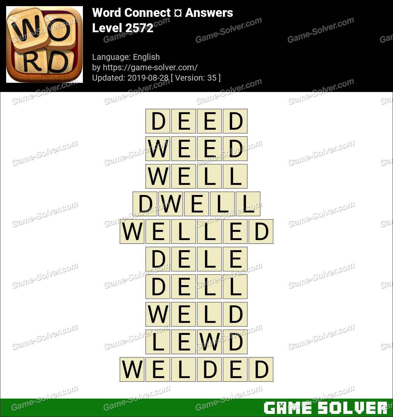 Word Connect Level 2572 Answers