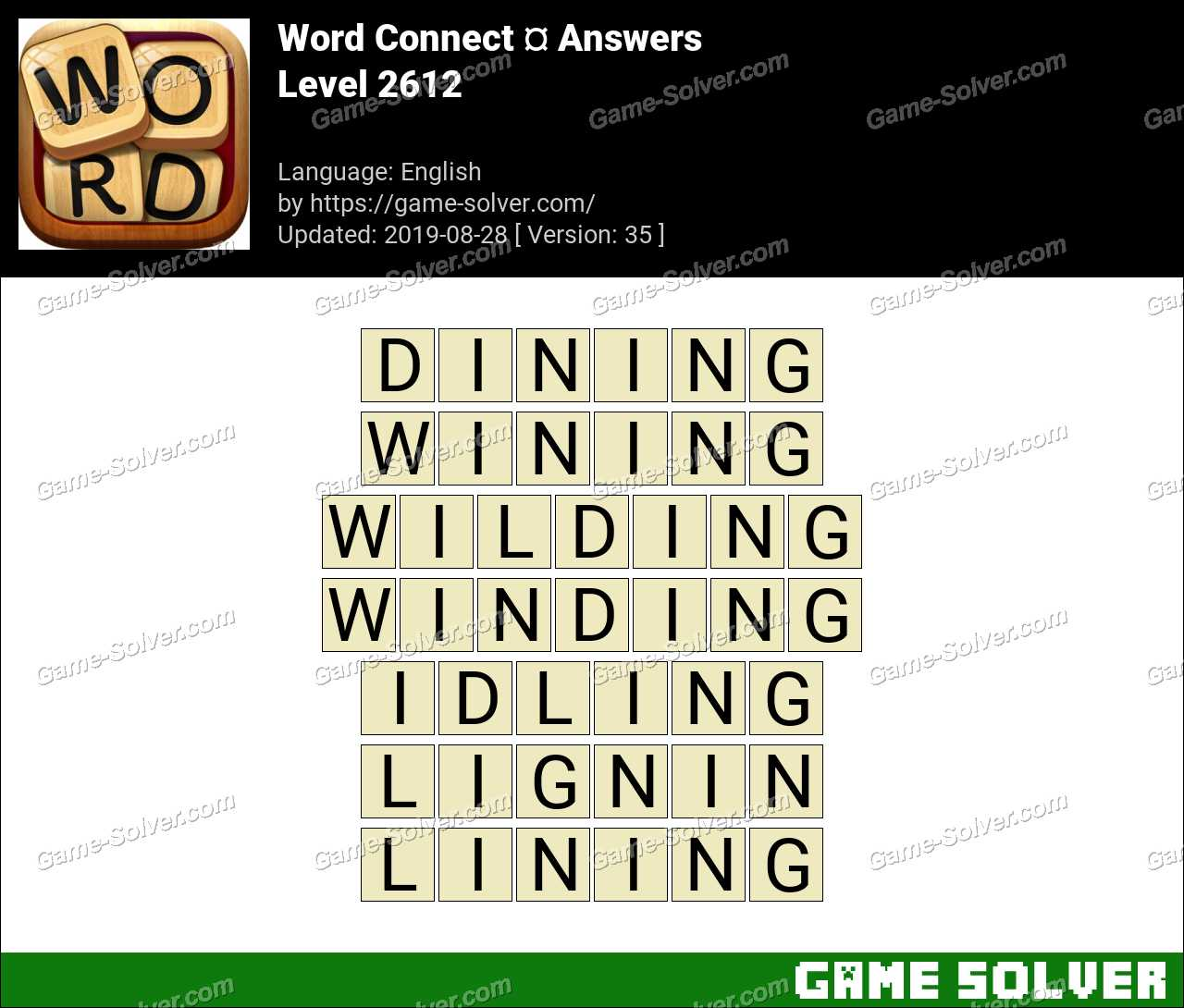 Word Connect Level 2612 Answers