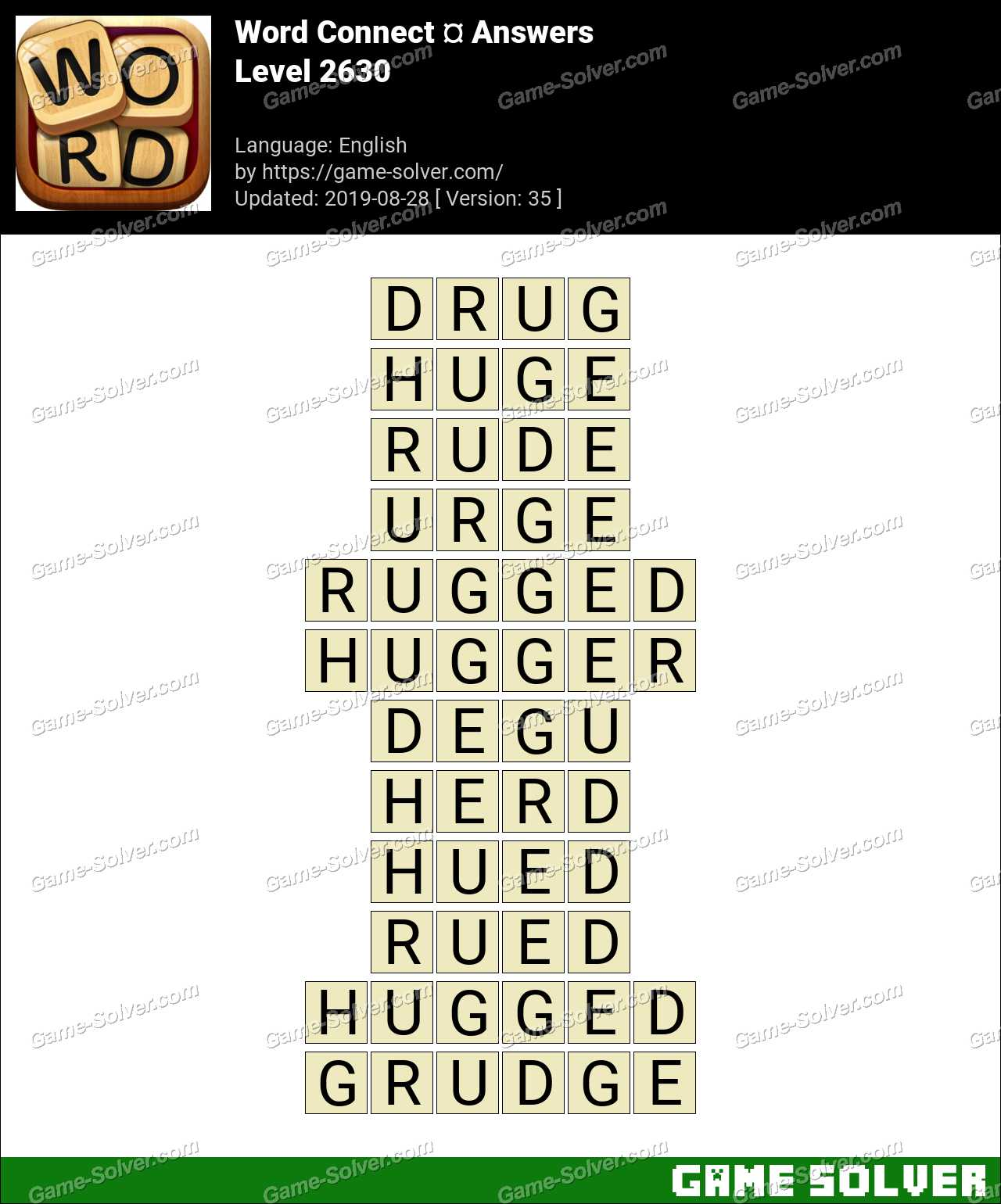 Word Connect Level 2630 Answers