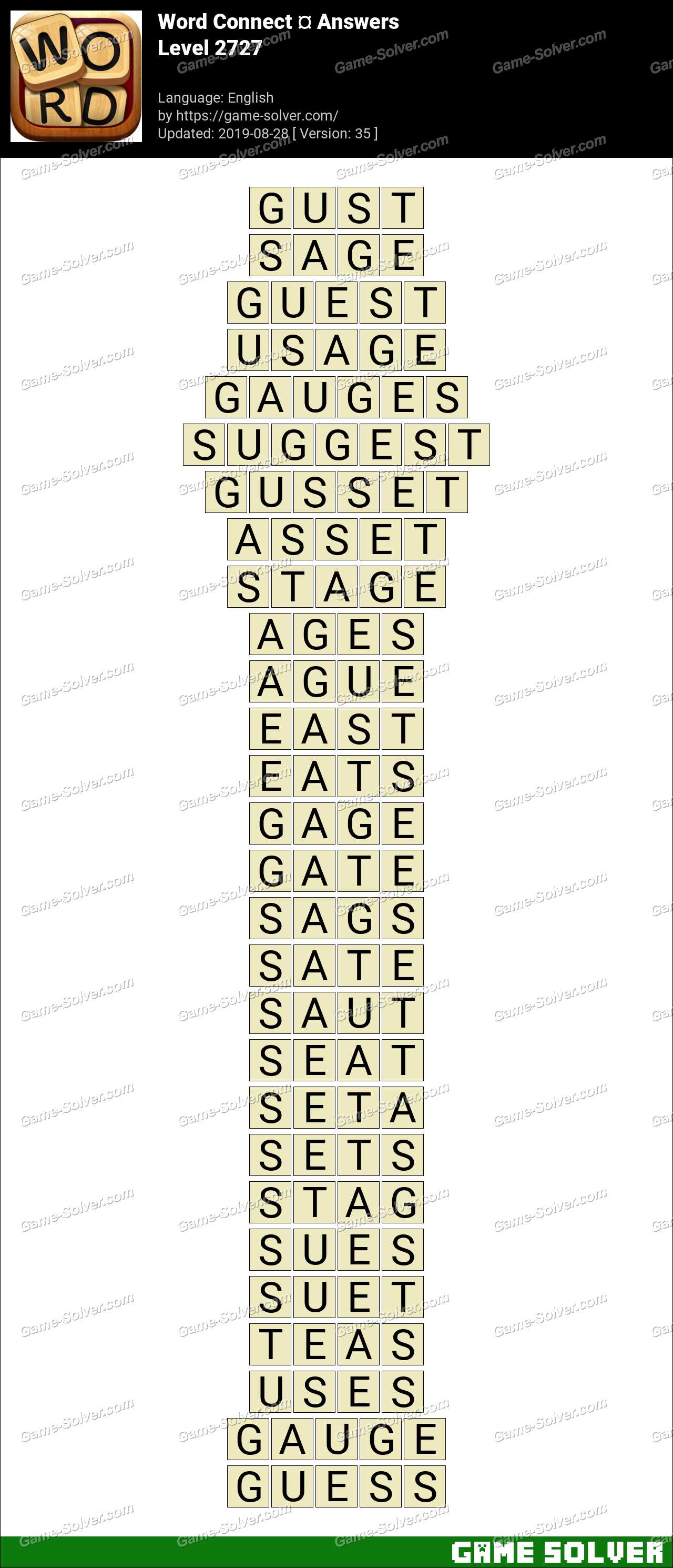 Word Connect Level 2727 Answers