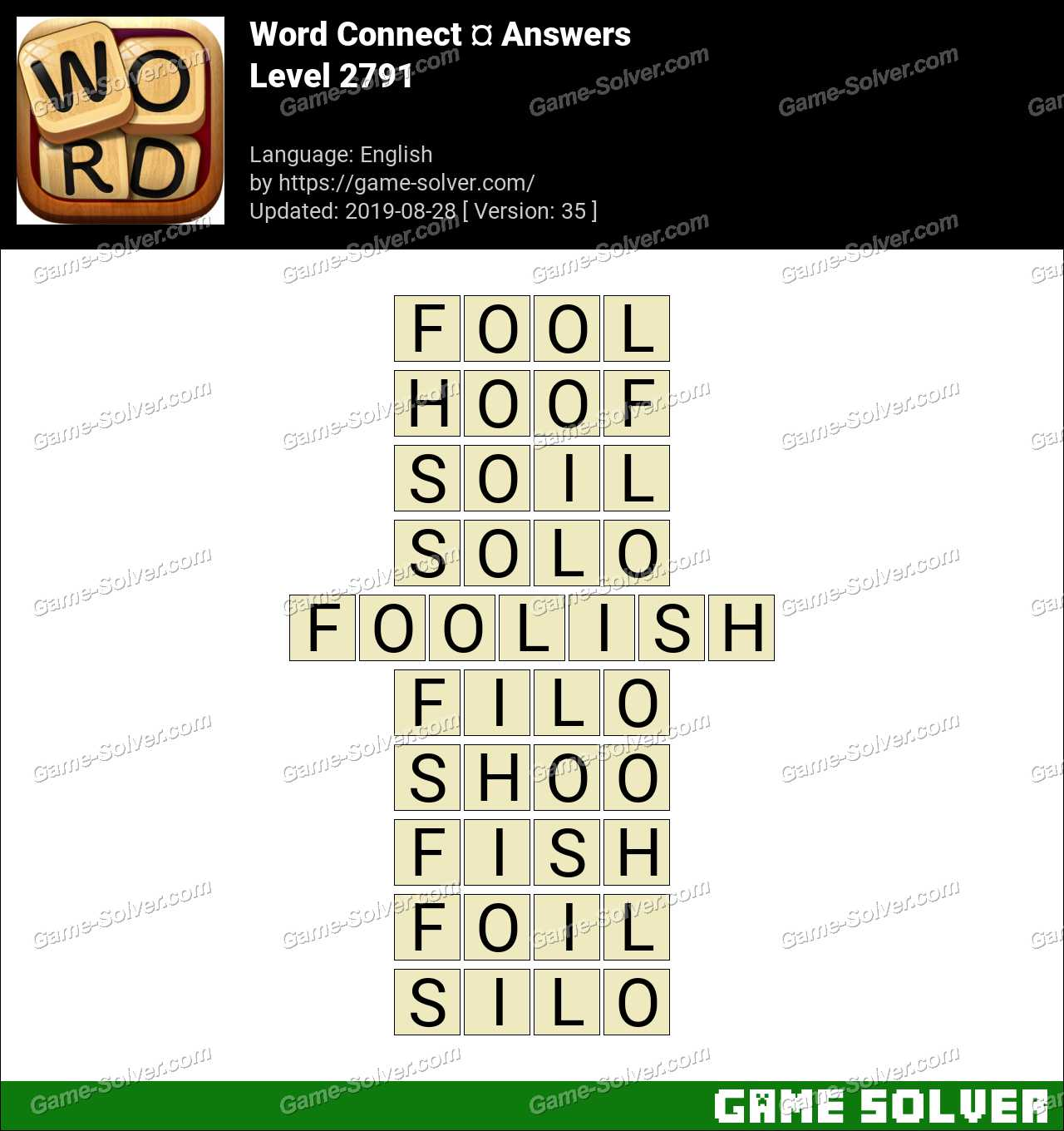 Word Connect Level 2791 Answers