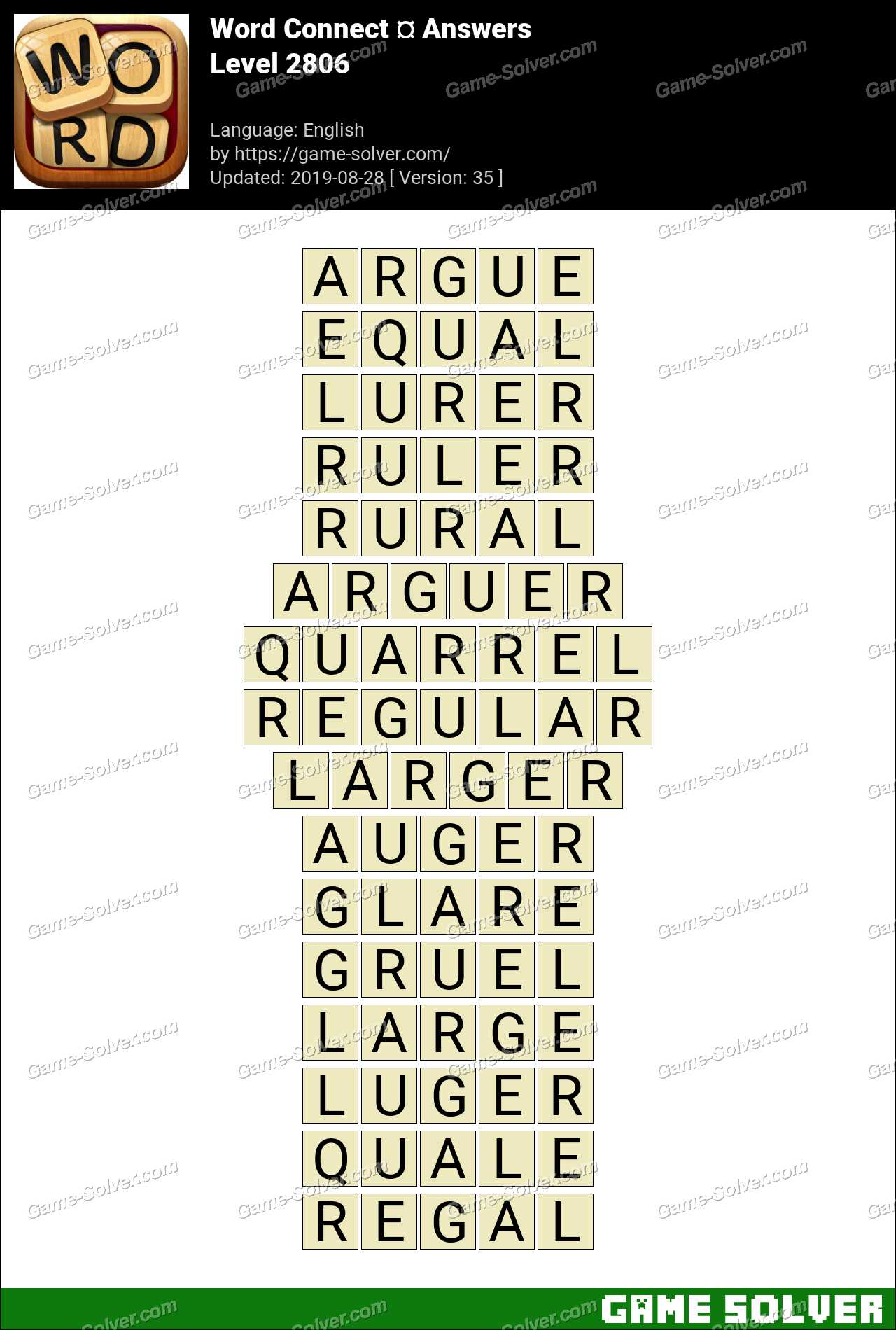 Word Connect Level 2806 Answers