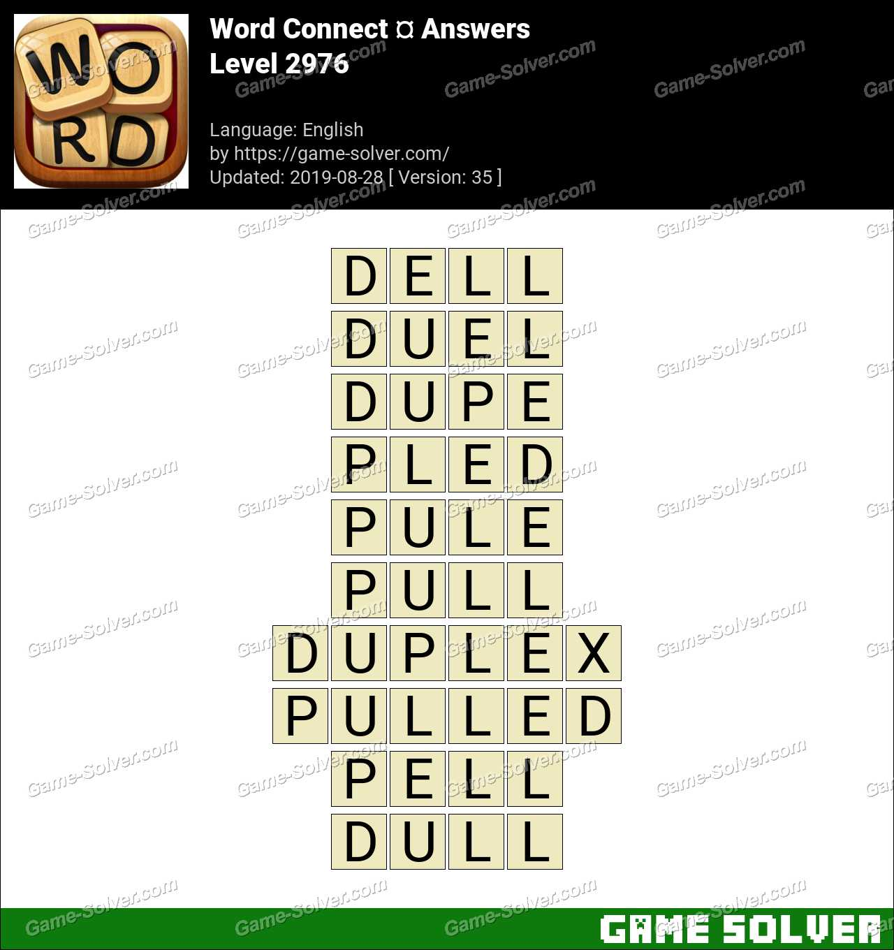 Word Connect Level 2976 Answers