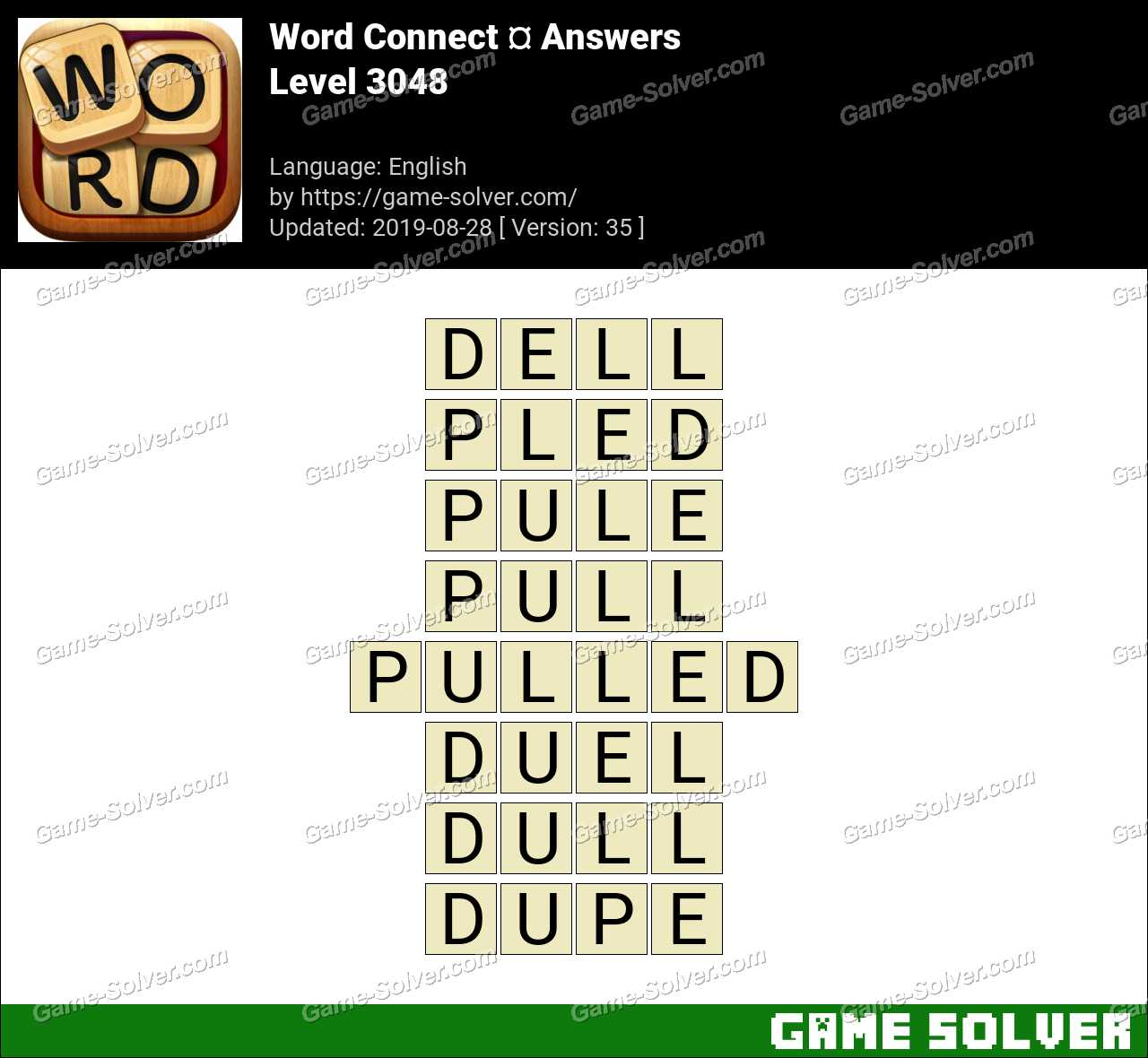 Word Connect Level 3048 Answers