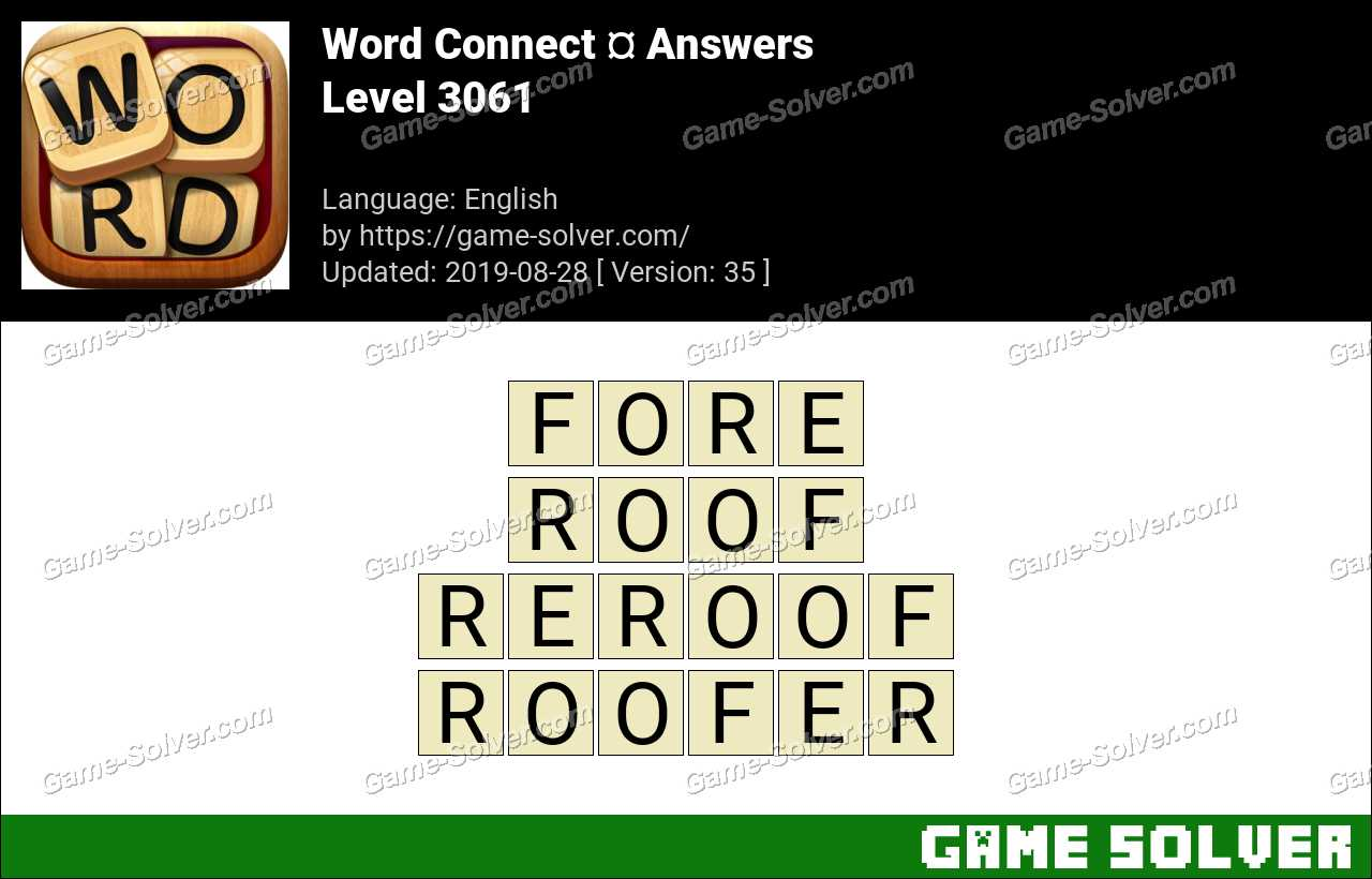 Word Connect Level 3061 Answers