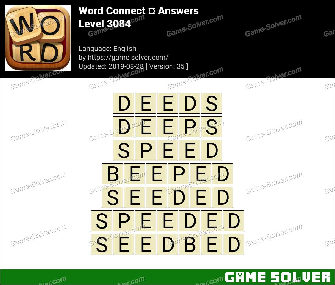 Word Connect Level 3084 Answers