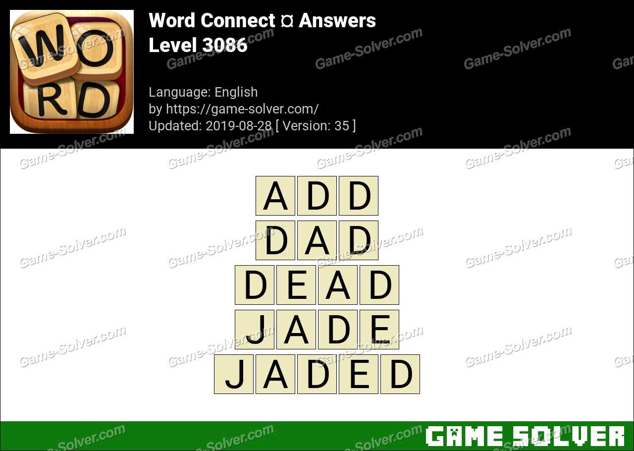 Word Connect Level 3086 Answers
