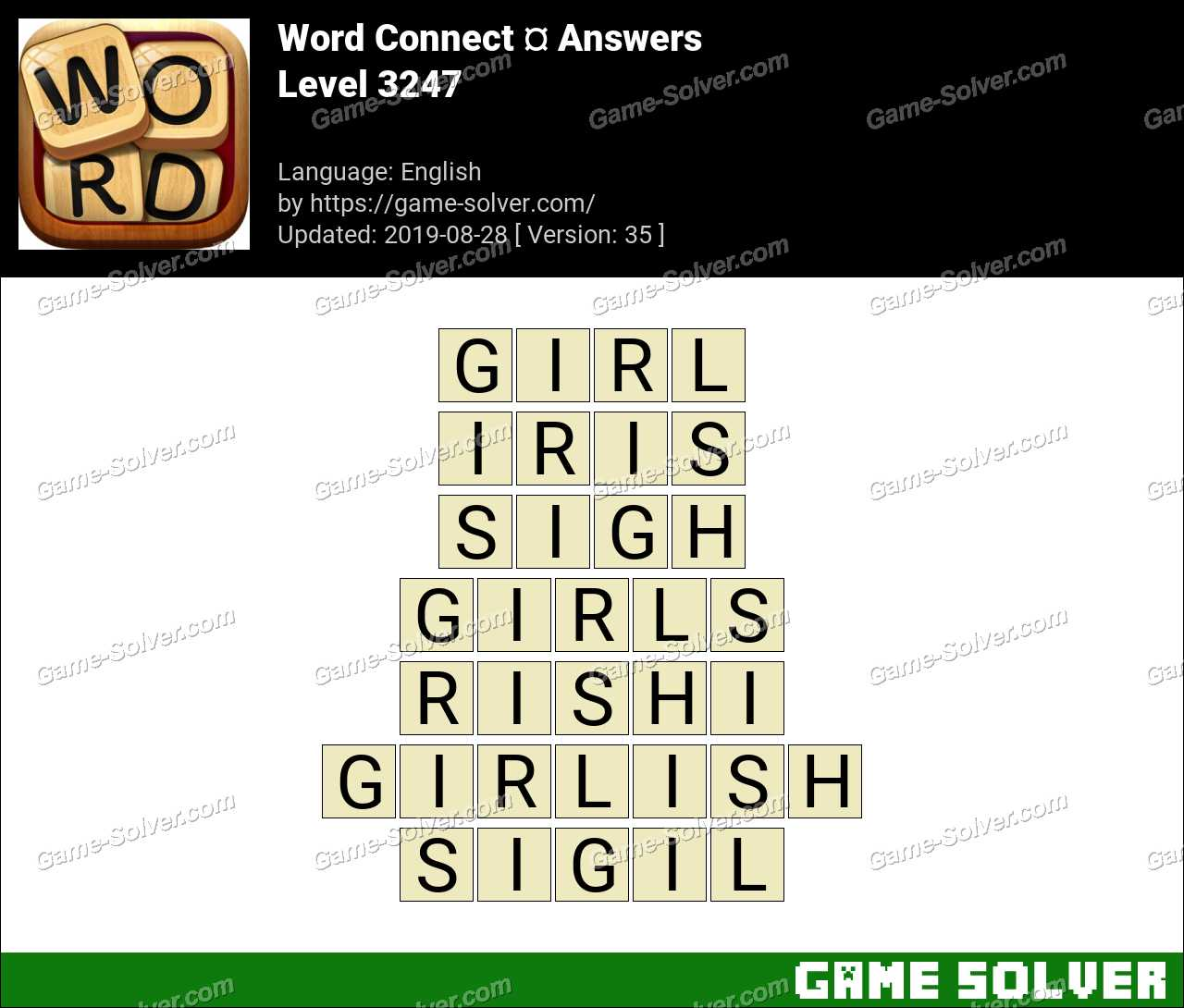 Word Connect Level 3247 Answers