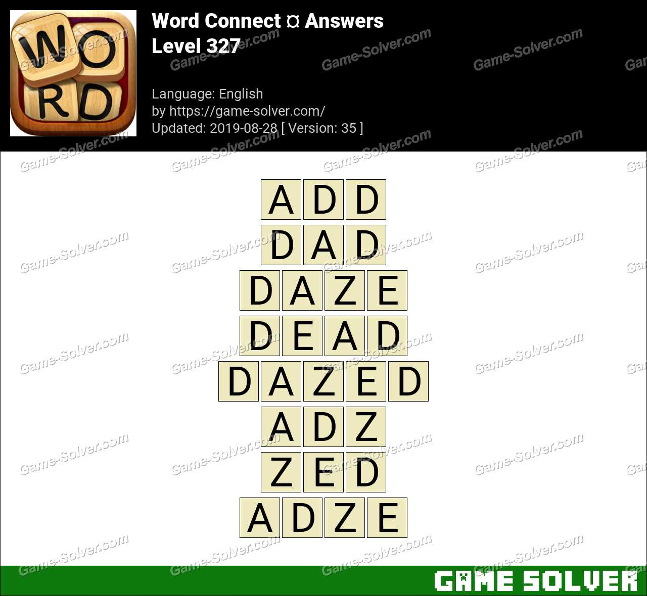 Word Connect Level 327 Answers