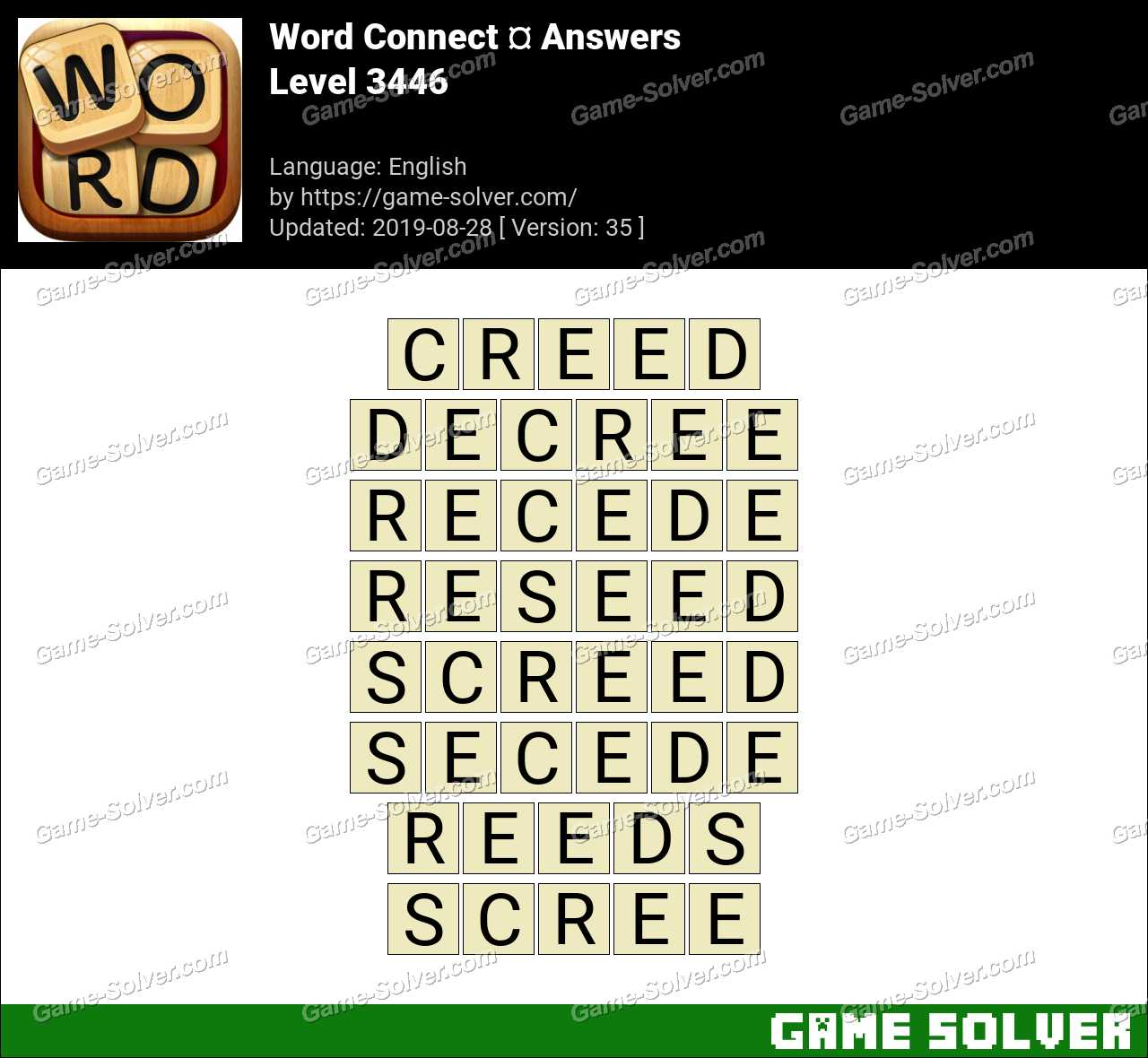 Word Connect Level 3446 Answers