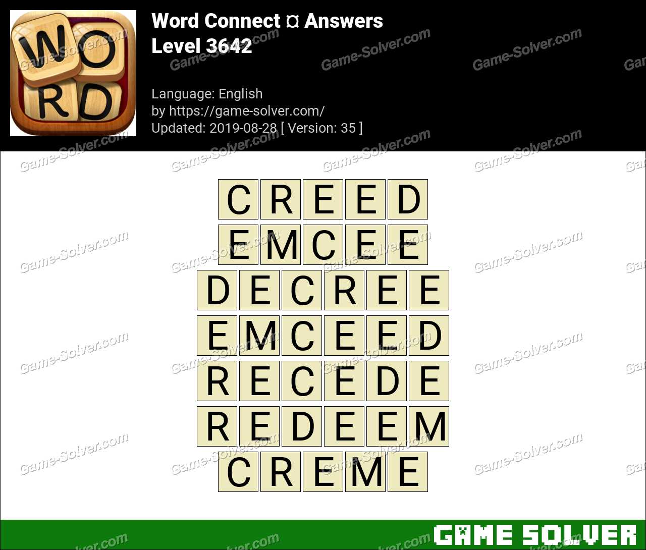 Word Connect Level 3642 Answers