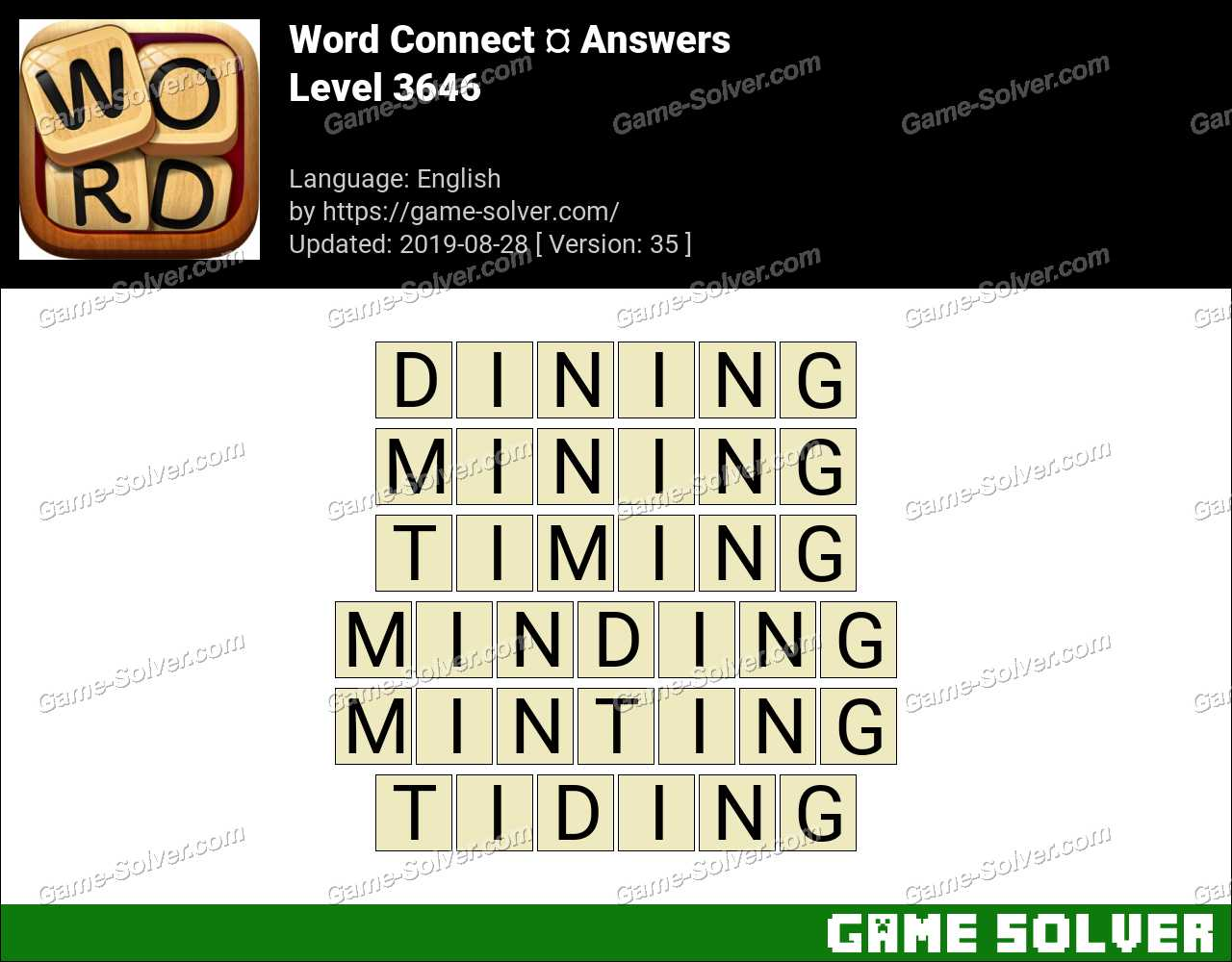 Word Connect Level 3646 Answers