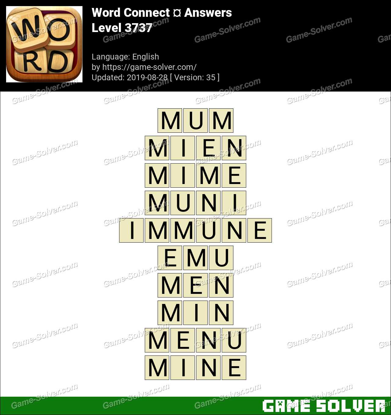 Word Connect Level 3737 Answers