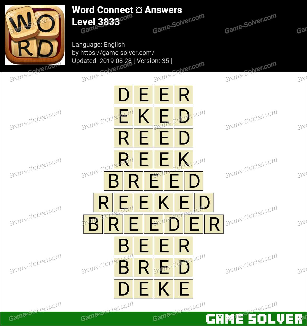 Word Connect Level 3833 Answers