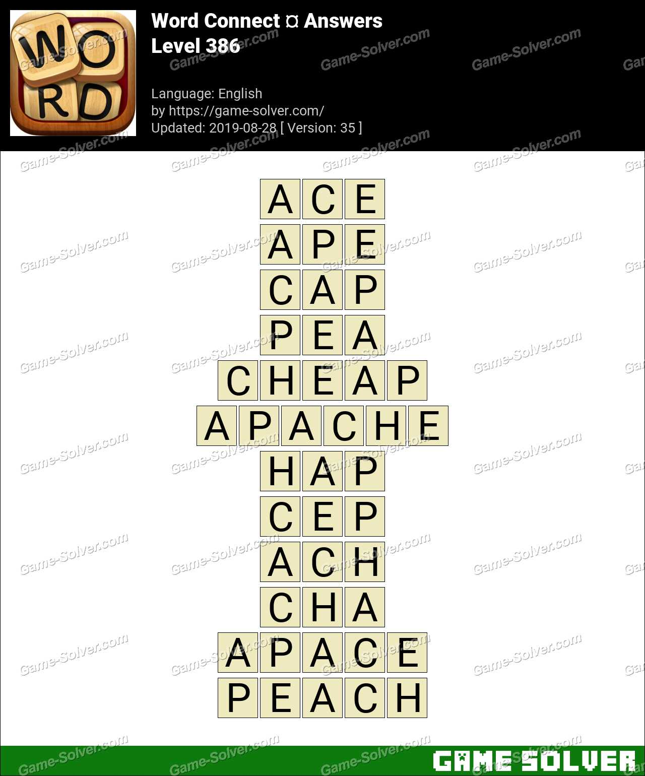 Word Connect Level 386 Answers