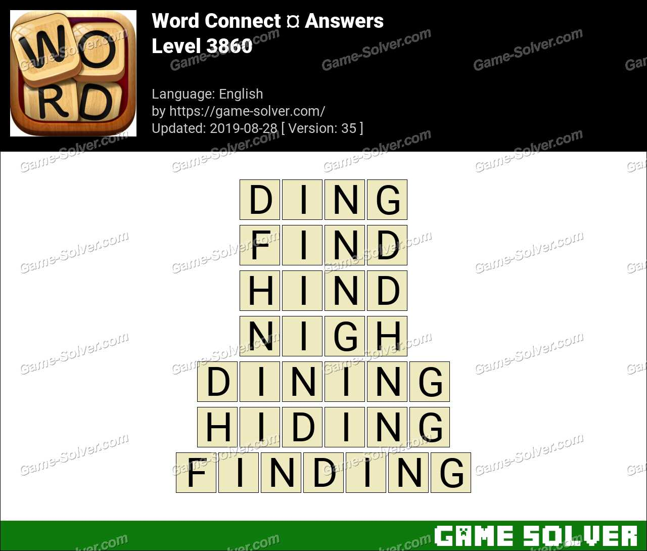 Word Connect Level 3860 Answers