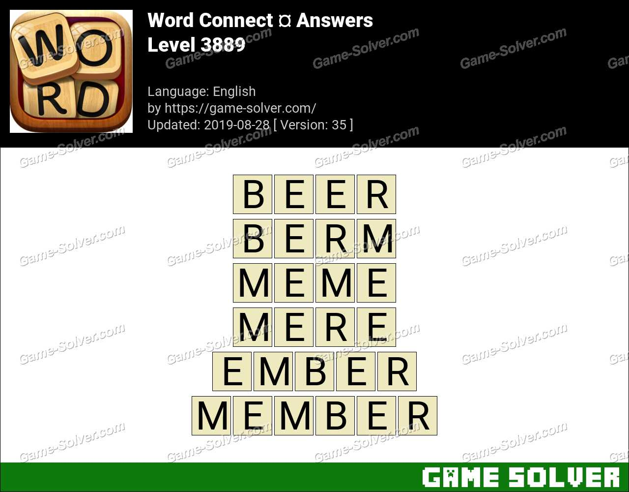 Word Connect Level 3889 Answers