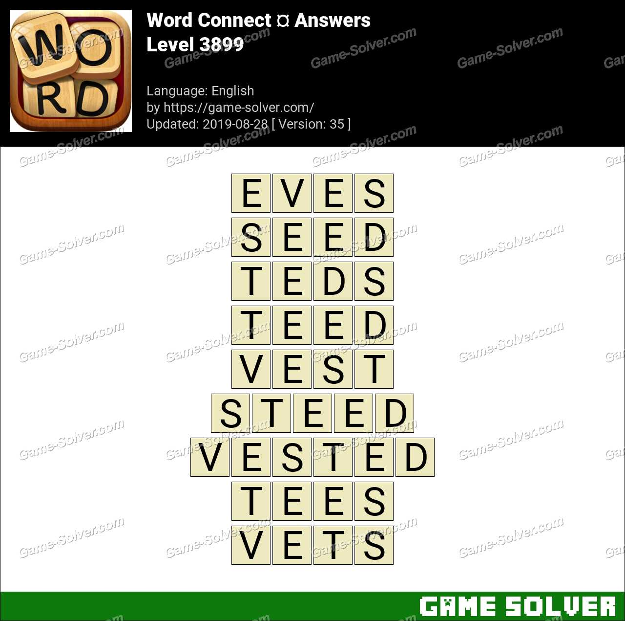 Word Connect Level 3899 Answers