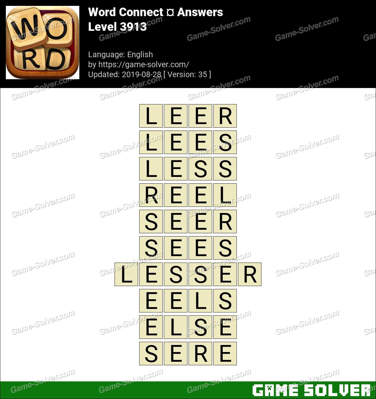 Word Connect Level 3913 Answers