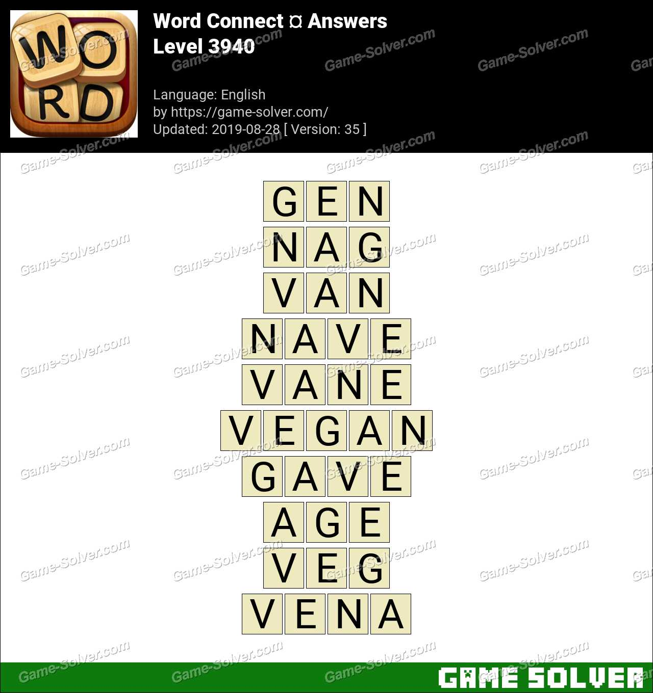Word Connect Level 3940 Answers