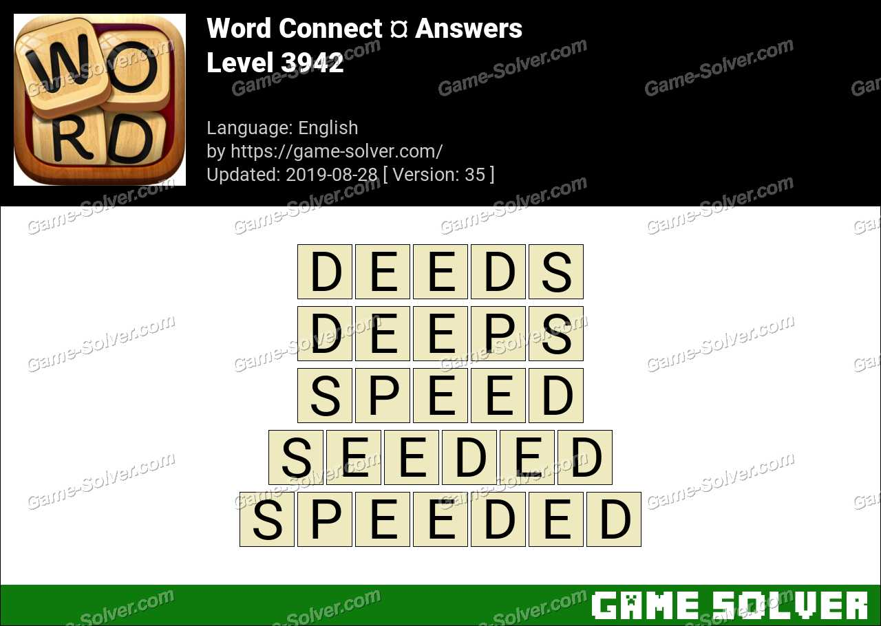 Word Connect Level 3942 Answers