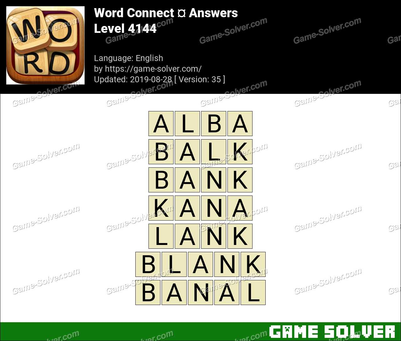 Word Connect Level 4144 Answers