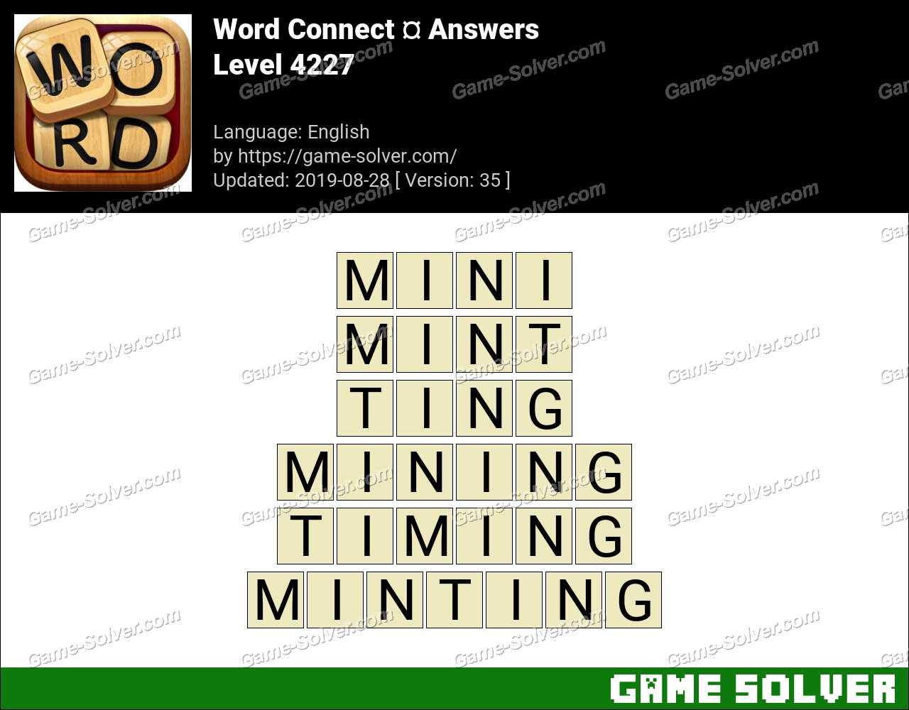 Word Connect Level 4227 Answers