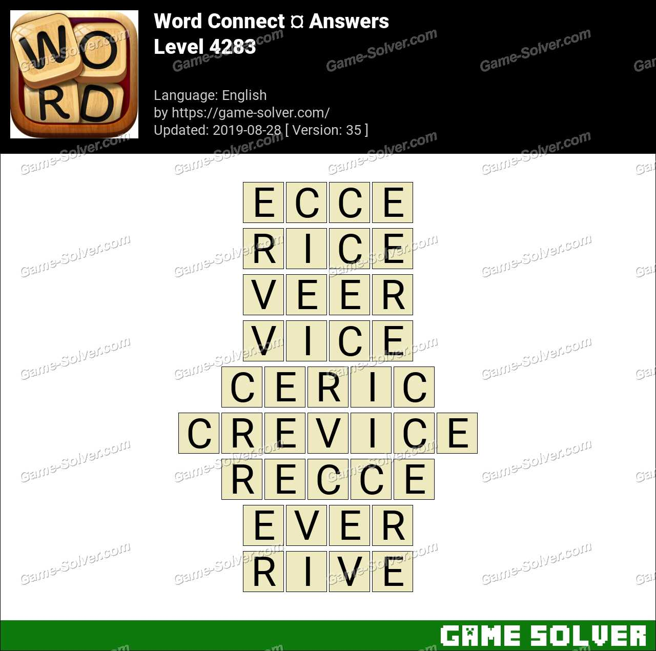 Word Connect Level 4283 Answers