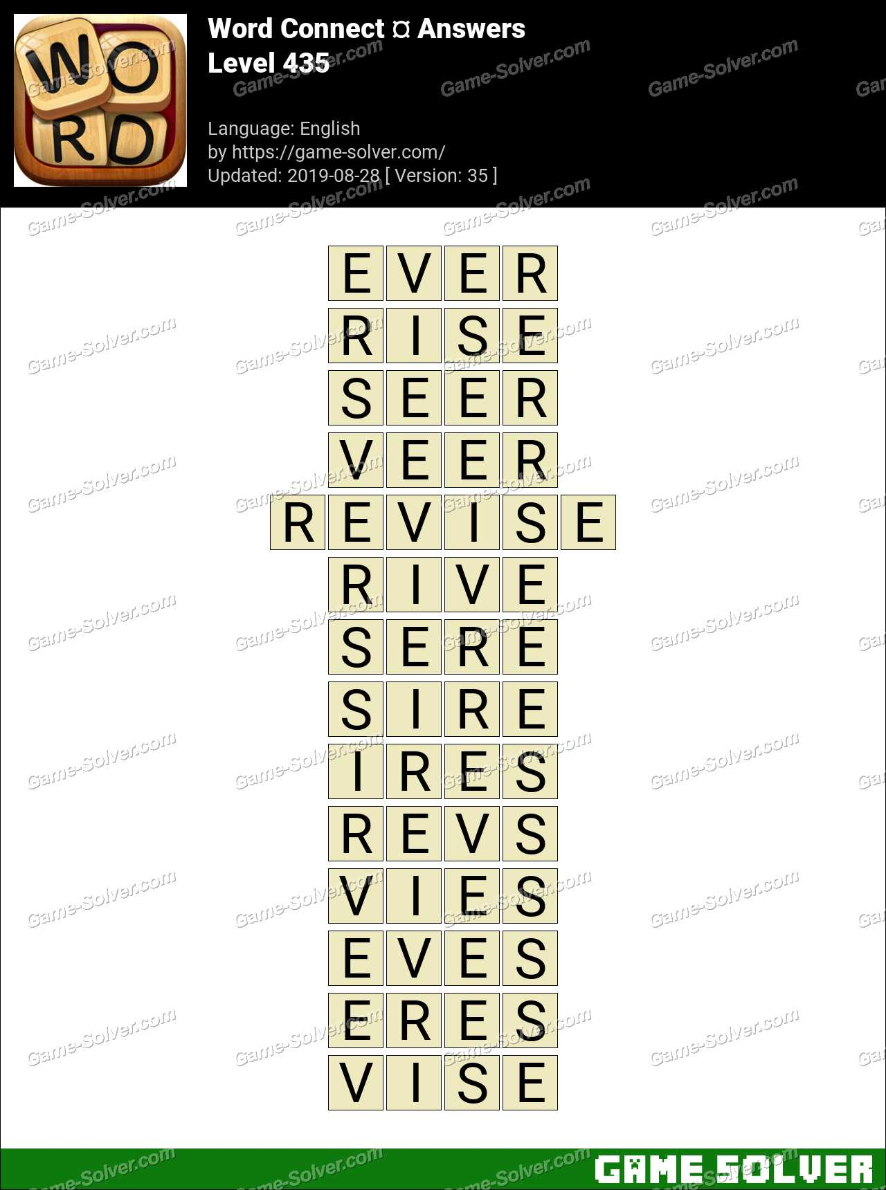 Word Connect Level 435 Answers