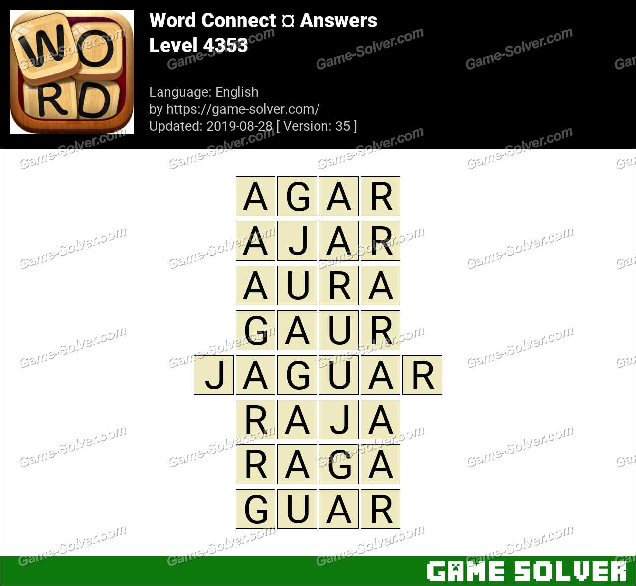 Word Connect Level 4353 Answers