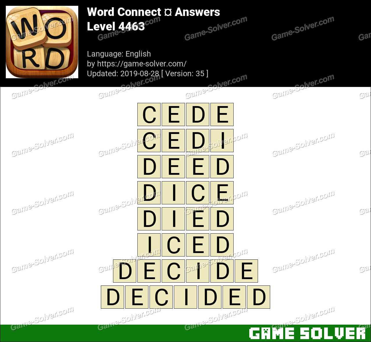 Word Connect Level 4463 Answers