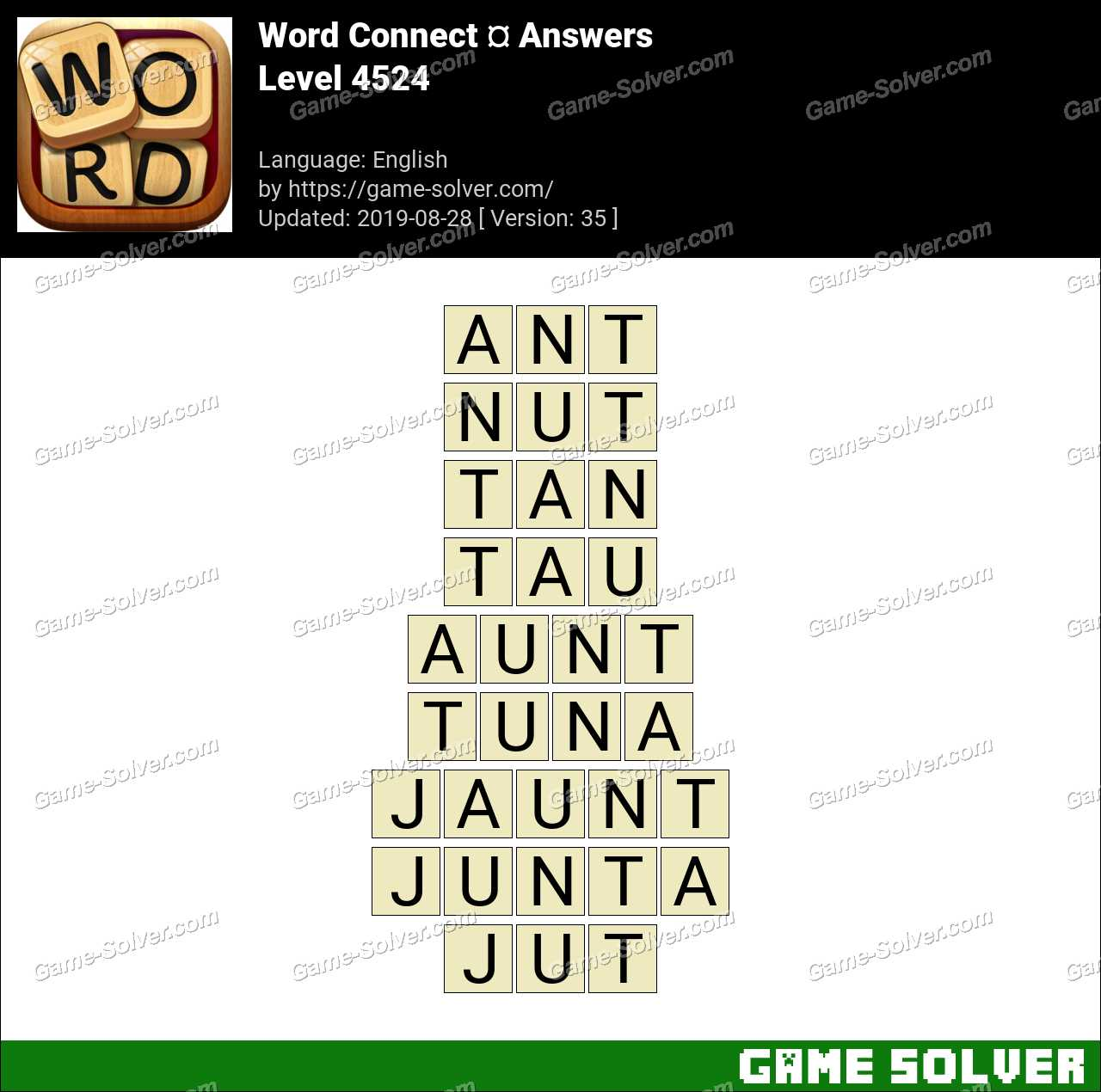Word Connect Level 4524 Answers