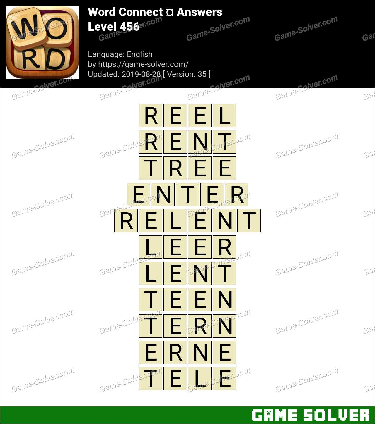 Word Connect Level 456 Answers