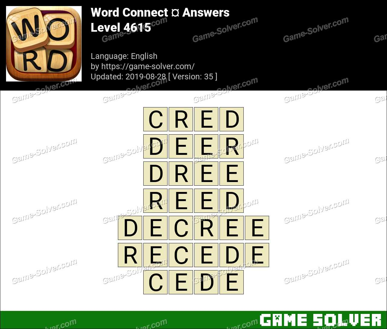 Word Connect Level 4615 Answers