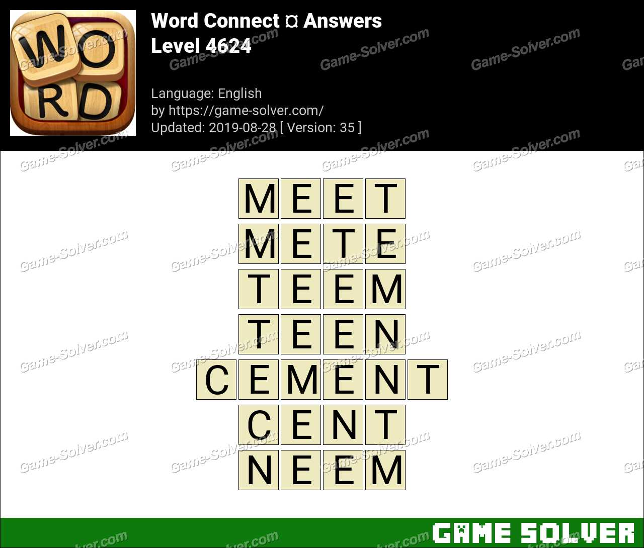 Word Connect Level 4624 Answers