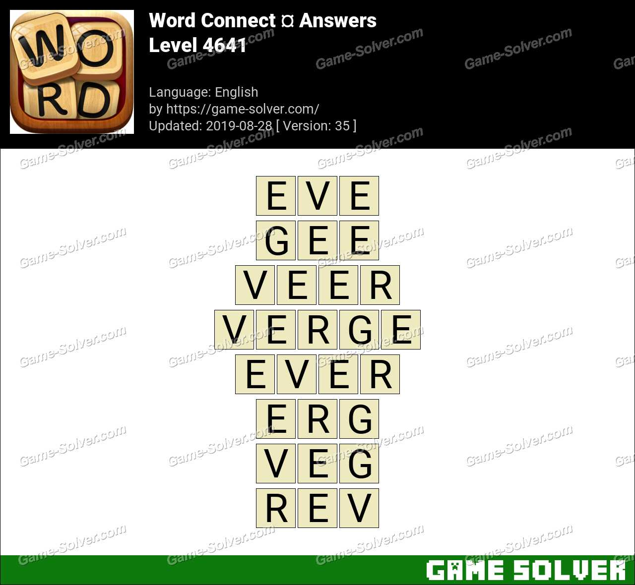 Word Connect Level 4641 Answers