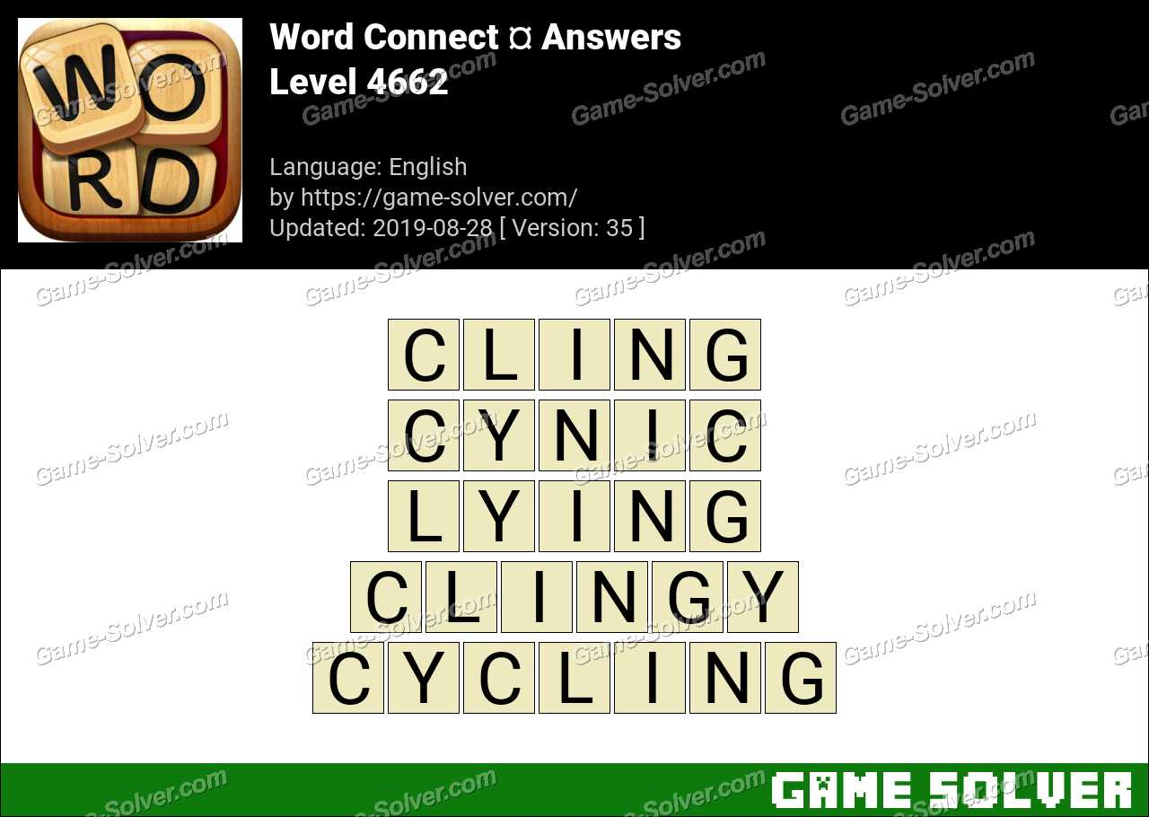 Word Connect Level 4662 Answers