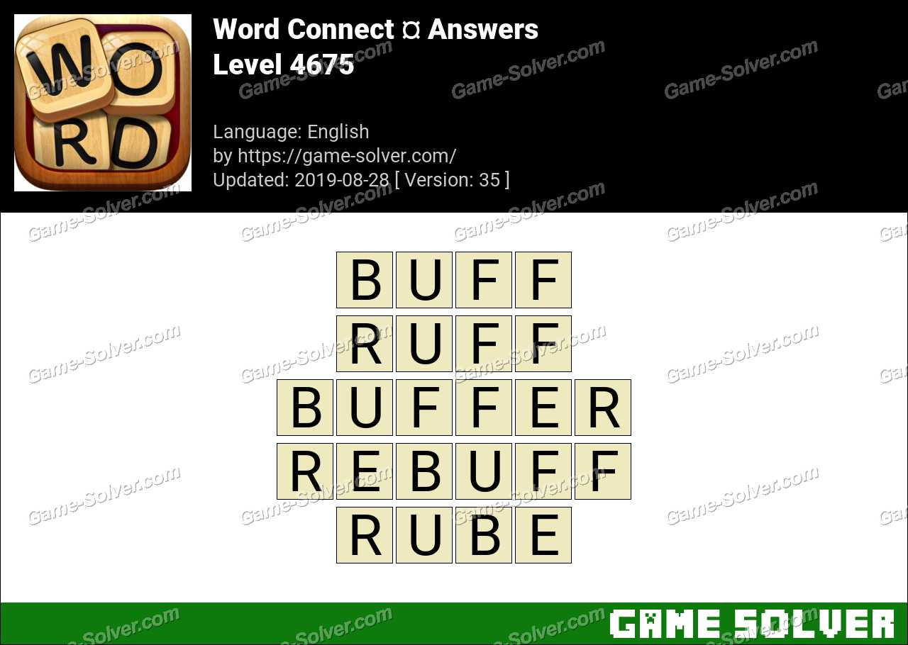 Word Connect Level 4675 Answers