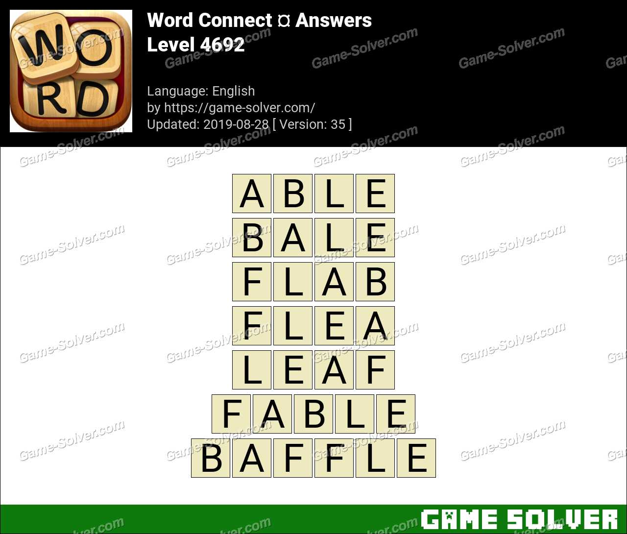 Word Connect Level 4692 Answers