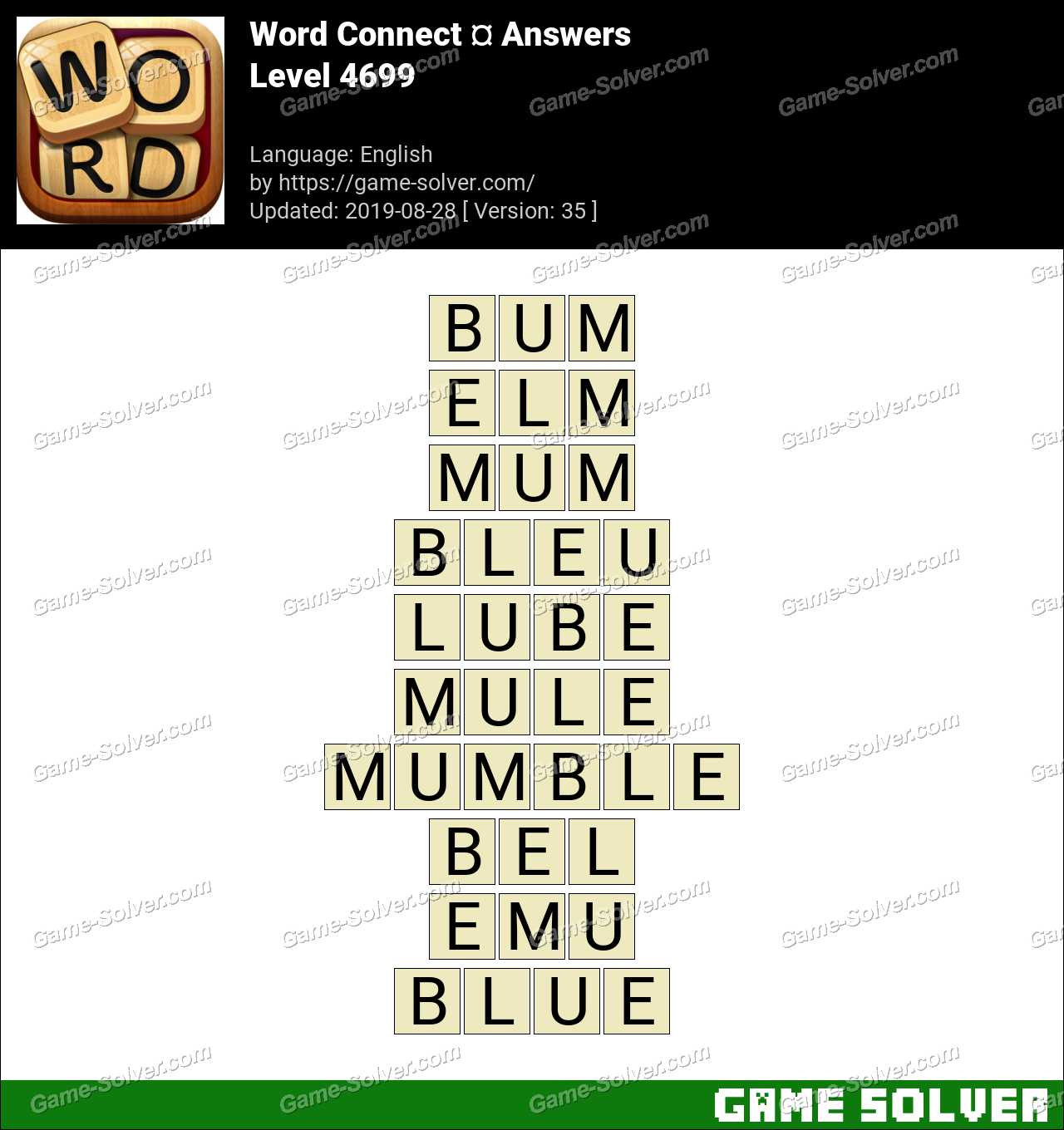 Word Connect Level 4699 Answers