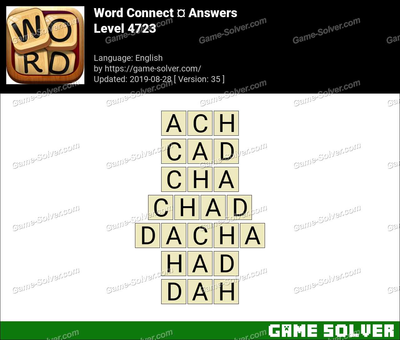 Word Connect Level 4723 Answers